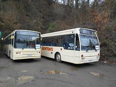 Newton's P317 EFL and P636 FFC (Welsh Bus 18) Tags: newtons volvo b10m55 alexander ps p317efl stagecoach cambridge 317 southwales 20697 b10b58 plaxton verde p636ffc oxfordbuscompany 636 islwynboroughtransport 36 21028 newbridge