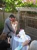 brown dress brown wedding dress brown wedding cake photo