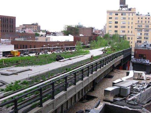 The High Line appears to be filling in nicely.