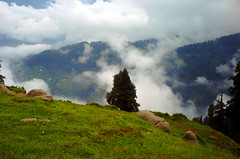 Meet The Clouds (M.Rizwan Rafique) Tags: life pakistan mountains green beautiful clouds forest dark evening greenery kashmir winters azadkashmir andmanymore kashmeer