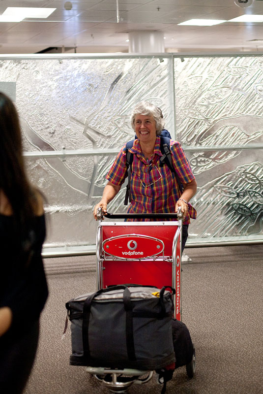 Mum arriving home from Southern Africa