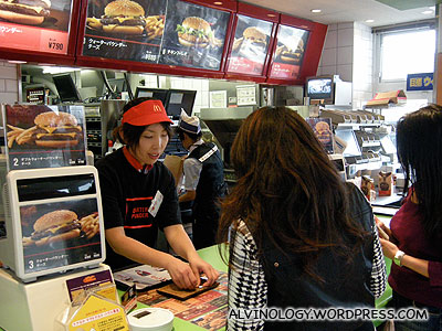 At McDonalds - Rachel went to test out her spoken Japanese by ordering a Quarter Pounder