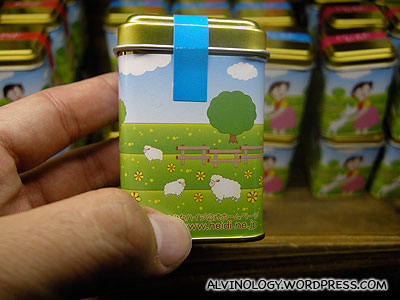 Heidi tin can candies