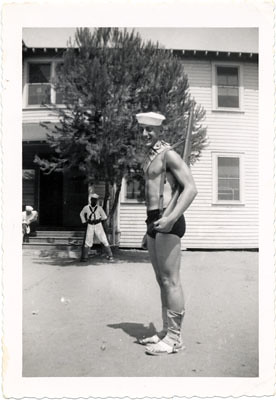 Harvey Milk in the Navy, between 1953 and 1954