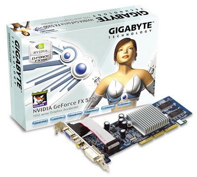 Gigabyte nVidia FX 5200 AGP Card