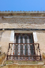 Ronda Rusty Balcony (cwgoodroe) Tags: summer costa white hot sol beach del bells spain ancient europe churches sunny bull bullfighter adobe ronda moors walls washed clothesline protective newbridge roda bullring stonebridge oldbridge spainish whitehilltown rondah spanishdoors