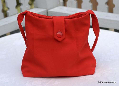 Tangerine shoulder bag