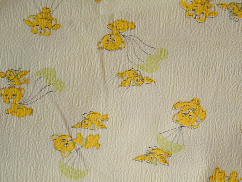 vintage critter fabric