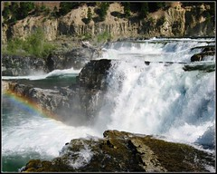 Kootenai Falls, Montana, Wild River Waterfall (moonjazz) Tags: travel wild nature river waterfall rainbow montana power indian best clean sacred libby environment rockymountains geography geology rainbows wilderness mighty raging untamed kootenaifalls hydrology enegry