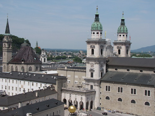 Cathedral and the city of Salzburg