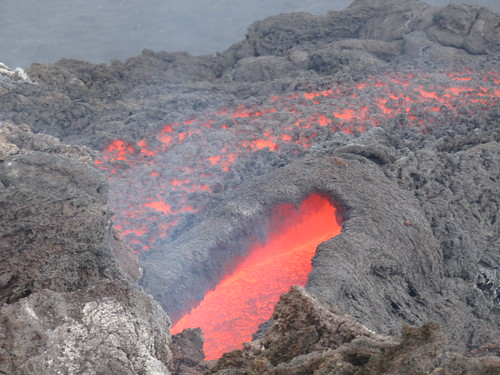 The lava vents