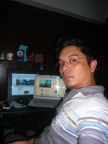 me with laptop L and pc S