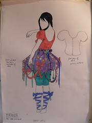 Miranda (HollyMHodgart) Tags: design costume drawings thetempest rsamd