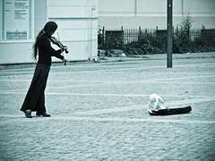 la violinista e la monetina e qualcuno che osserva (•:• panti •:•) Tags: