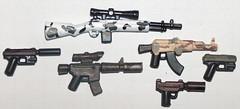 camo weapons (kenneth nielsen a.k.a Qenhyt) Tags: snow woodland mod paint desert lego camo ba brickarms