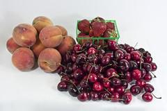 peaches cherries strawberries
