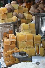 Jaggery - Mysore market (Pondspider) Tags: india bangalore sugar karnataka mysore jaggery pondspider
