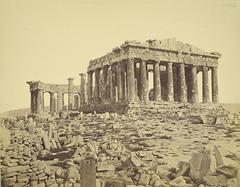 [フリー画像] [人工風景] [建造物/建築物] [パルテノン神殿] [世界遺産/ユネスコ] [ギリシャ風景] [モノクロ写真]     [フリー素材]