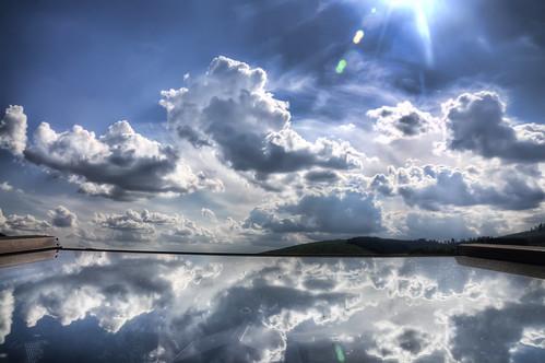 フリー画像| 自然風景| 空の風景| 雲の風景| 湖の風景| ドイツ風景| 青色/ブルー|     フリー素材|