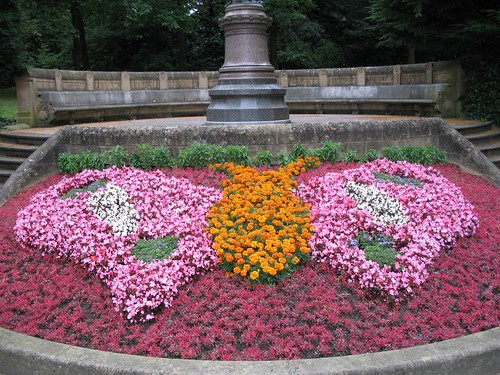 Flowers in a park in Luxembourg