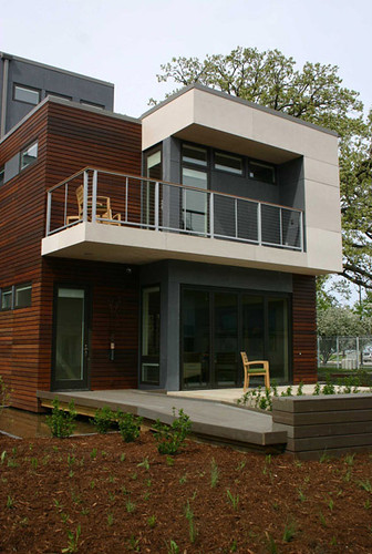 mksolaire eco friendly house front facade design - Front Home Designs