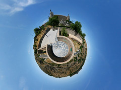 The gardens of the Alcazar (Man) Tags: panorama river spain 360 full toledo alcazar handheld ravine 360x180 spherical planetoid hugin enblend littleplanet manuperez