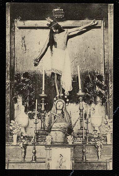 Cristo de la Vega (Antigua Basílica de Santa Leocadia) a principios de siglo. Hacia 1922 por Linares