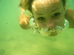 Luchtsnor (Sophie Teunissen) Tags: ocean family sea water girl bells underwater sister air breath familie bottom diving zee moustache lucht zusje meisje adem cato snor oceaan onderwater duiken bellen teunissen bodem