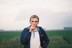 (MilkyAir) Tags: boy portrait film analog iso200 polska smoker schlecker prakticamtl3 milkyair