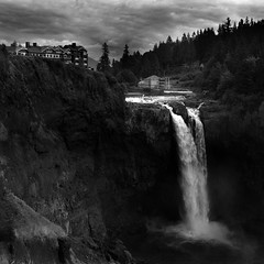 Snoqualmie Falls (nlwirth) Tags: blackandwhite washington twinpeaks tribute snoqualmiefalls homage davidlynch