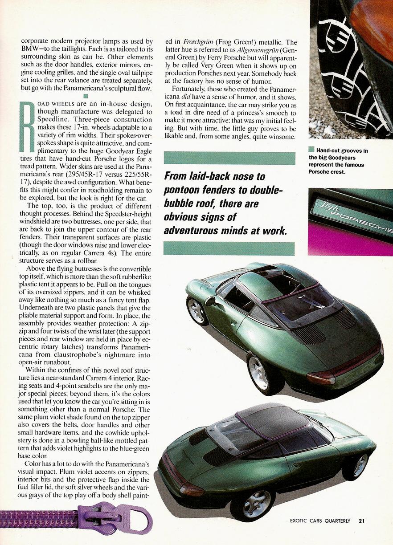 The Archive - Porsche Panamericana