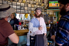 _DSC1880 (dogseat) Tags: max shirt alaska bar scott tv baseball flag americanflag roadtrip devon americana sideburns sitka muttonchops sidewhiskers dundrearies