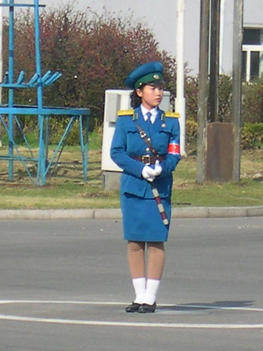 PYONGYANG TRAFFIC POLICE WOMAN INTERVIEWED 3839224810_80c13cc40c