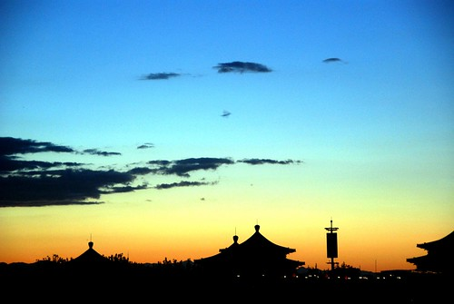 sunset over beijing