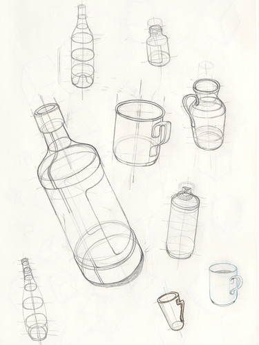 how to draw a beer bottle easy