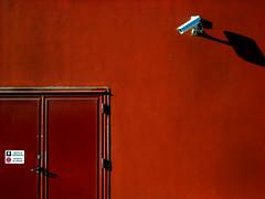urban geometry III (Rino Alessandrini) Tags: door camera brown white muro wall surveillance spy porta urbandesign bianco marrone emergencyexit geometrie telecamera uscitadisicurezza geometries sorveglianza divietodisosta spiare superaplus aplusphoto designurbano