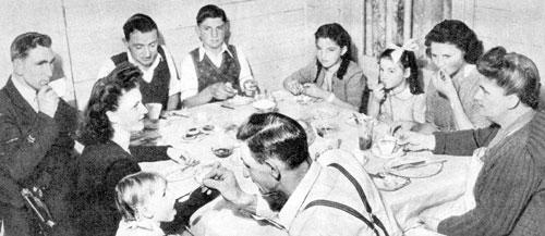 Rudge family in Pix Magazine in 1945