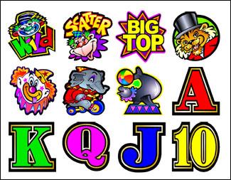 free Big Top slot game symbols