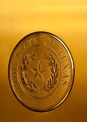 The State Seal of Texas (TXphotoblog) Tags: door color texture sign metal austin gold texas capital perspective structure material oldbuilding capitolbuilding descriptive