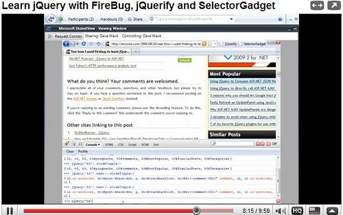 Crear acordeón con jQuery, jQuerify, SelectorGadget y Firebug | Videotutorial