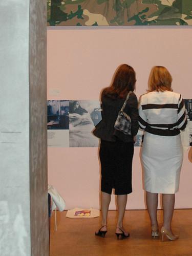 Sarah Brown and Carla Bruni-Sarkozy at the Andy Warhol Museum