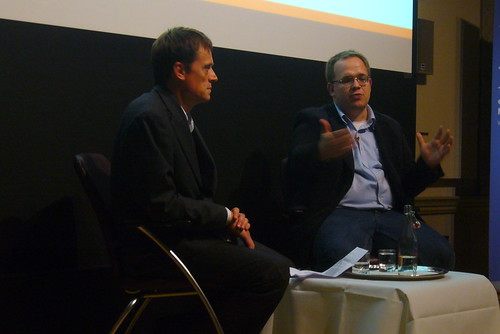 Matthew Taylor and Evgeny Morozov at the RSA