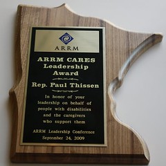 2009 ARRM Cares Leadership Award (ARRM) Tags: paul rep thissen
