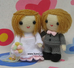 Bride and groom, amigurumi, crochet pattern (K and J Dolls) Tags: wedding toy groom bride doll pattern crochet pop bridesmaid mariage amigurumi hochzeit geschenk muster patron puppe anleitung heirat poupe braut brutigam marie hkeln pupazzi mari gurumi verheiratung hkelanleitung amigurumibride