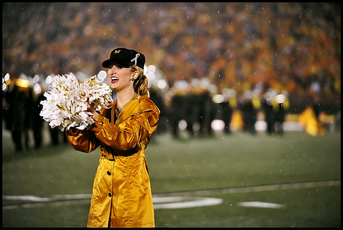 A Golden Girl during the pre-game show.