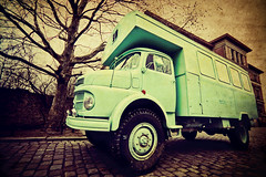 Berlin - Green Truck (Manlio Castagna) Tags: berlin verde green texture truck pavement wide sigma camion 1020mm manlio visiongroup manliok