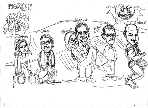 Caricatures for Morgan Stanley sketch 4
