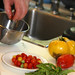 Burst Cherry Tomatoes: Chef Daniel Orr prepares the tomatoes
