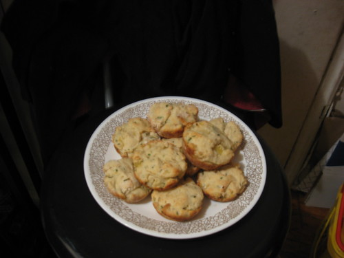 Chive Flecked Spud Muffins by blondiefk.