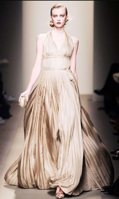 Bottega Veneta goddess dress Fall 2009
